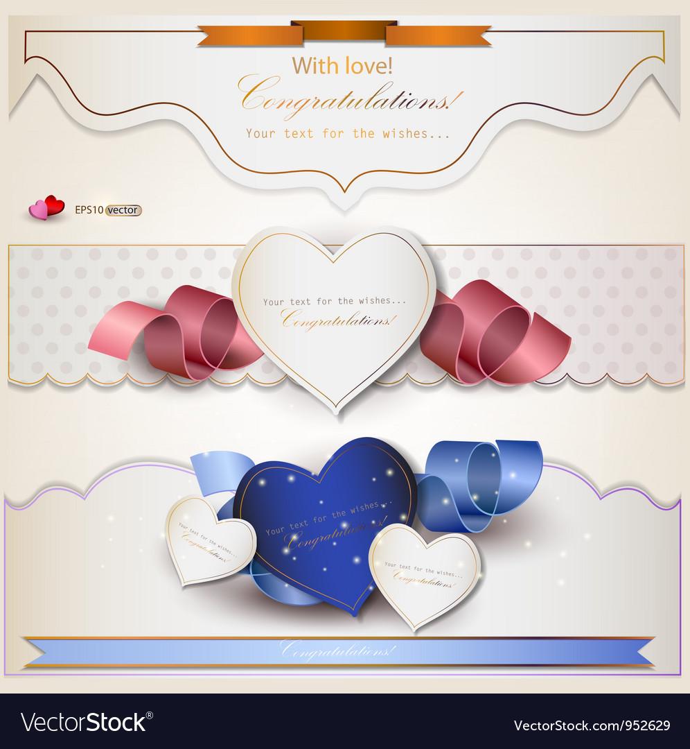 Wedding Congratulations Card vector image