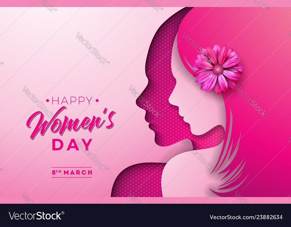 8 march womens day greeting card design