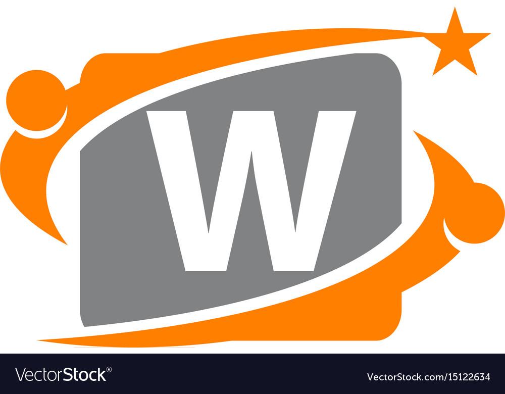 Career coaching initial w vector image
