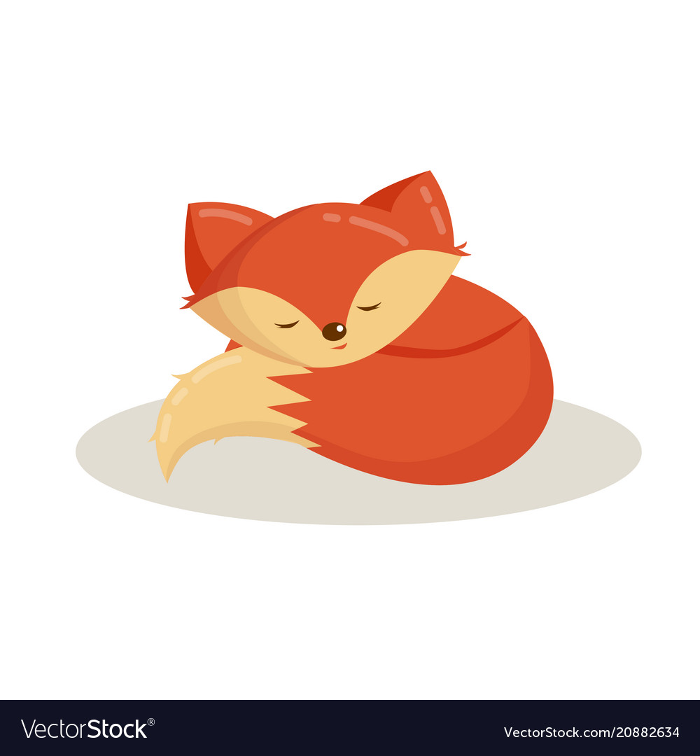 Cartoon animal cute fox