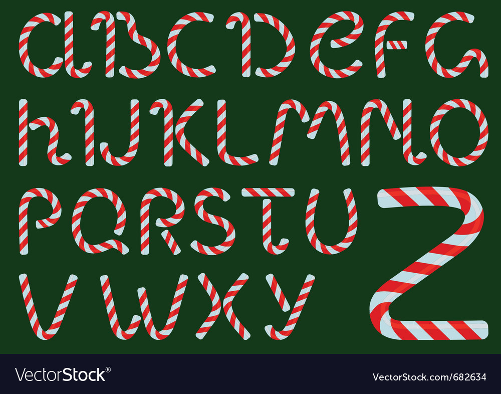 Christmas candles alphabet