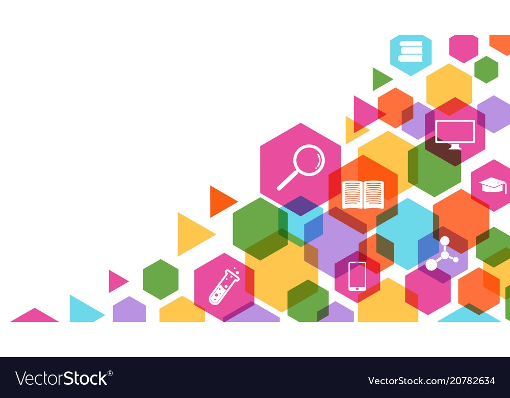 Colorful geometric science and education concept