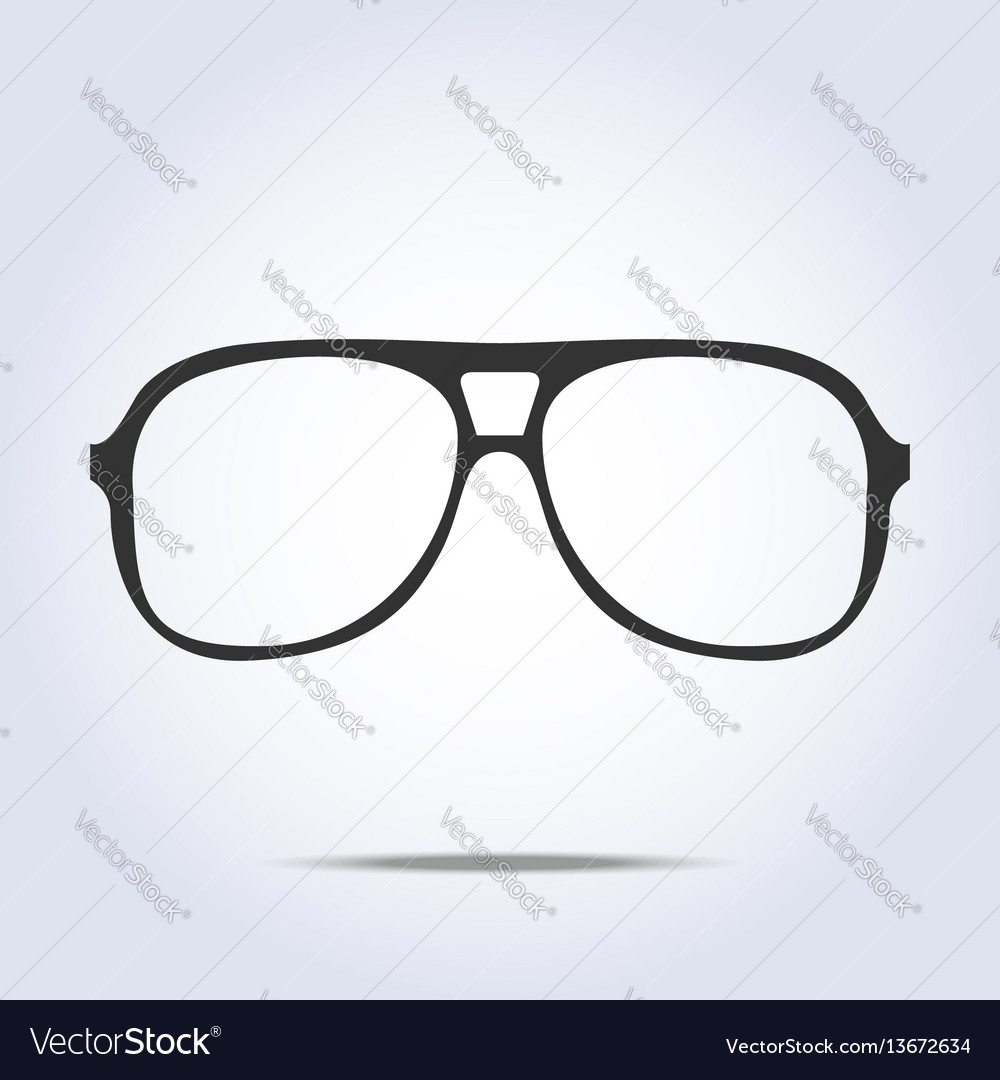 Glasses icon on gray background vector image