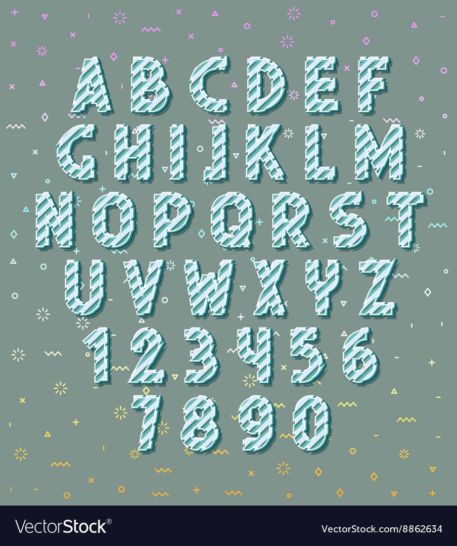 Letters 3d Set letters Font volume vector image