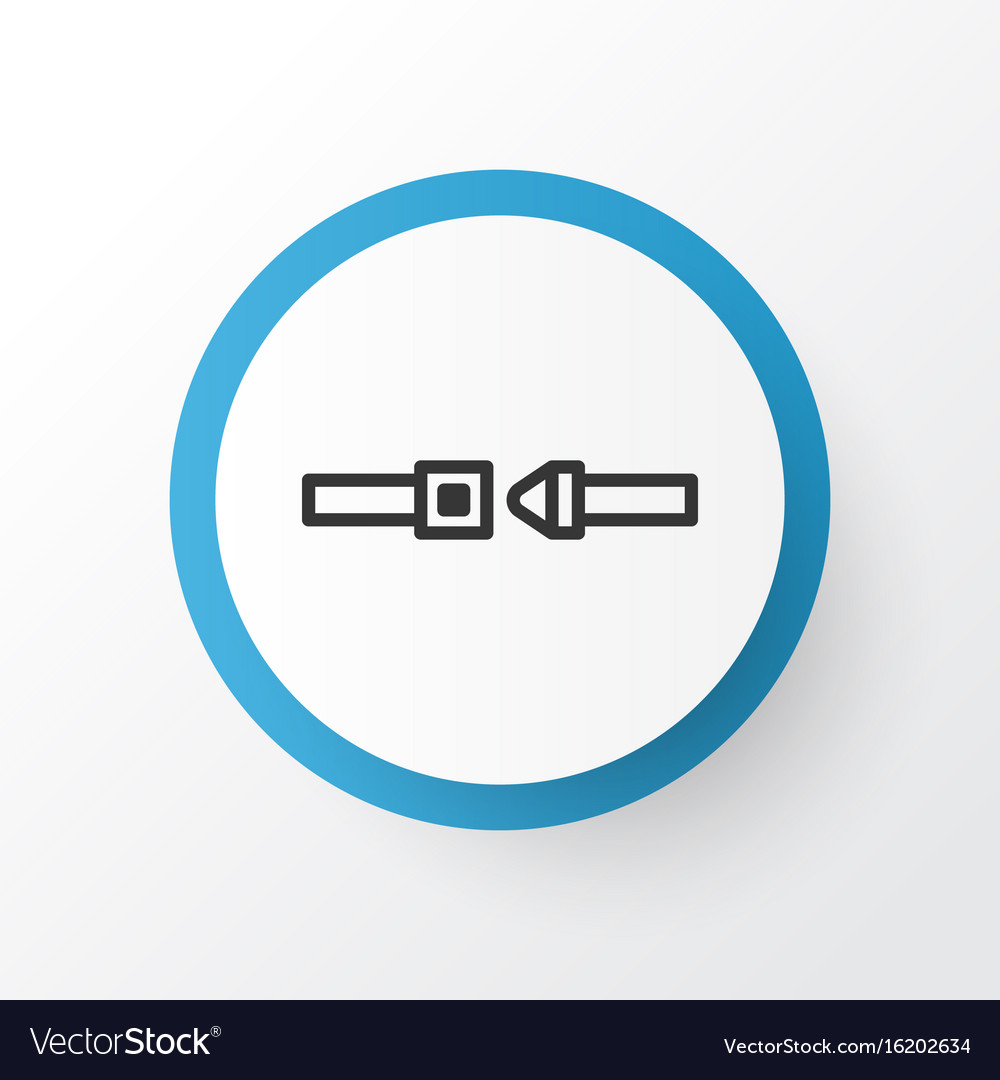 Seatbelt icon symbol premium quality isolated