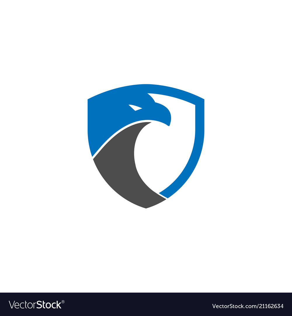 security shield eagle logo design template vector image