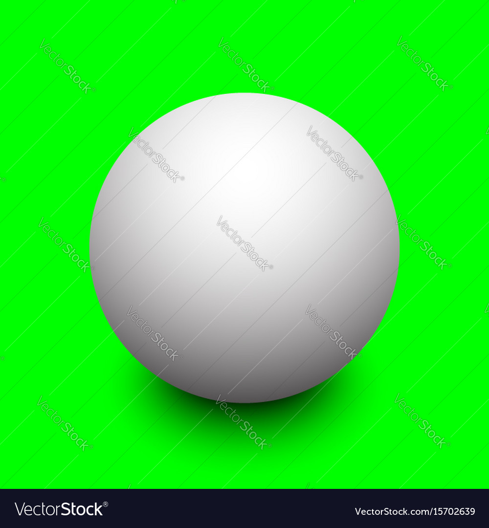 3d white sphere with shadow