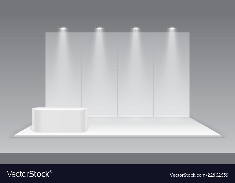 Exhibition Stand White : Blank exhibition trade show booth white empty vector image