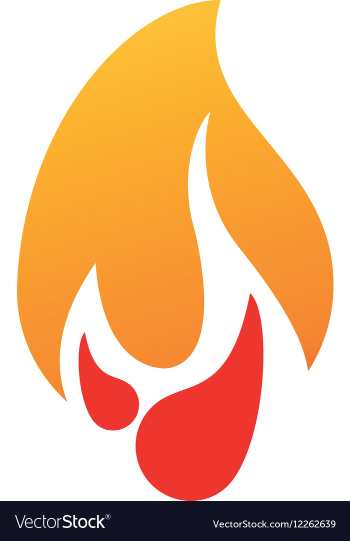 Burning fire flame design graphic vector image