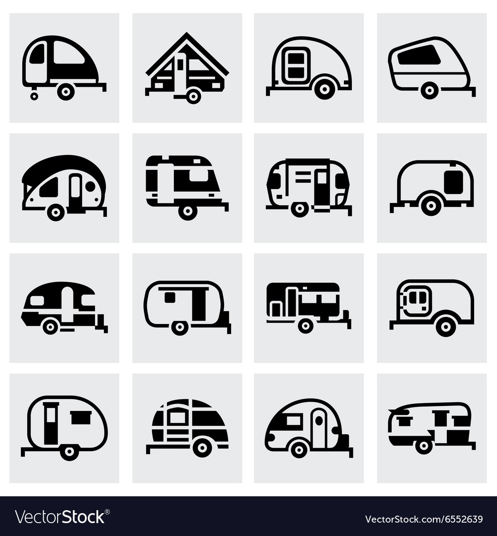 Trailer icon set