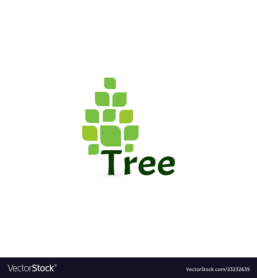 Tree icon simple pine logo green tree on