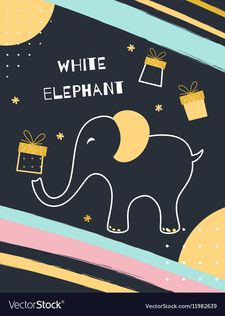 White Elephant Gift Exchange vector image