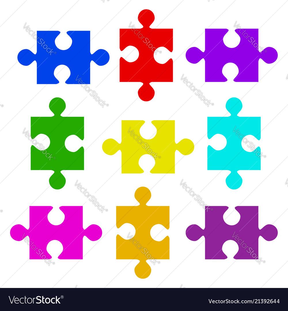 Color puzzle elements