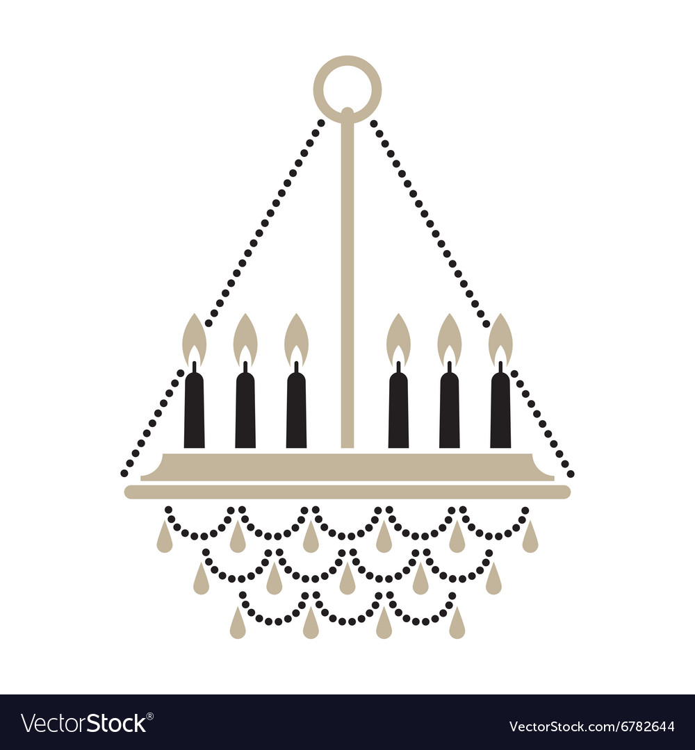 Crystal Candle Chandelier Vector Image