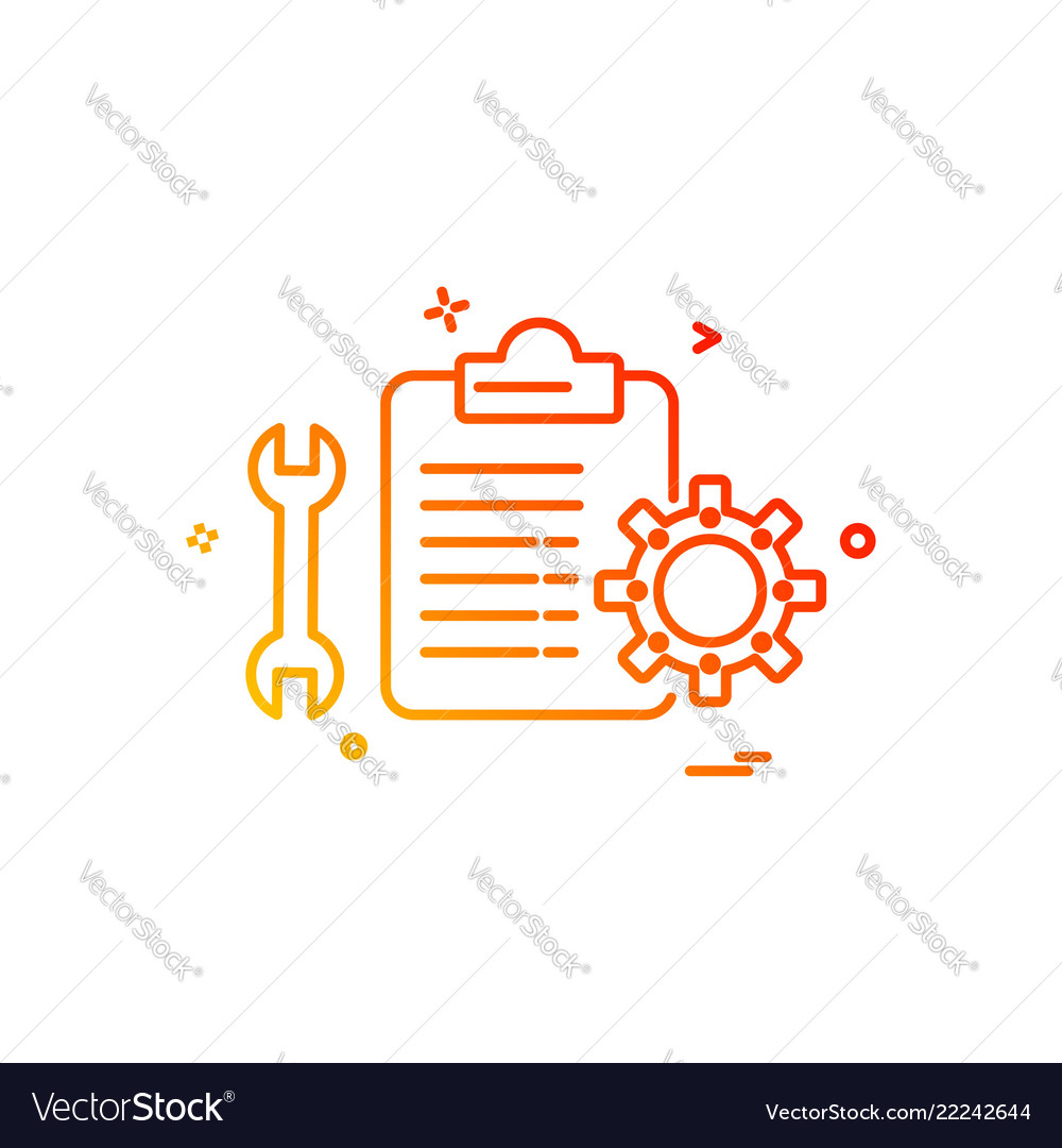 Mechanical checklist icon design