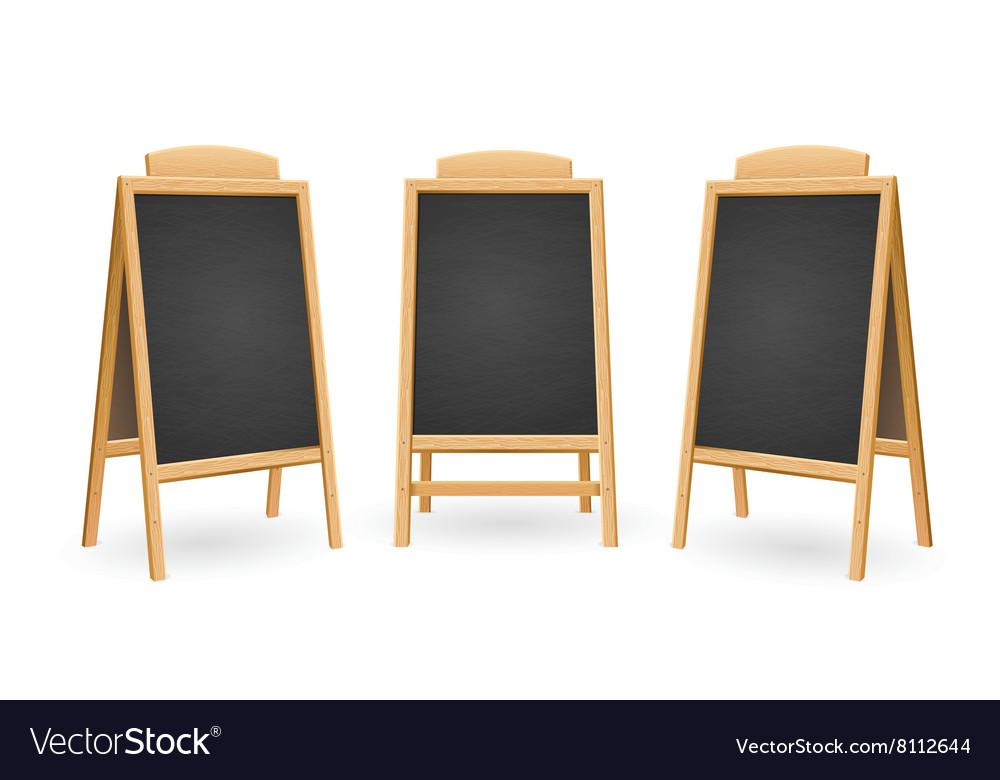 Menu Black Board Isolated Set