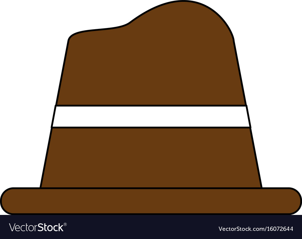 Old hat cartoon vector image
