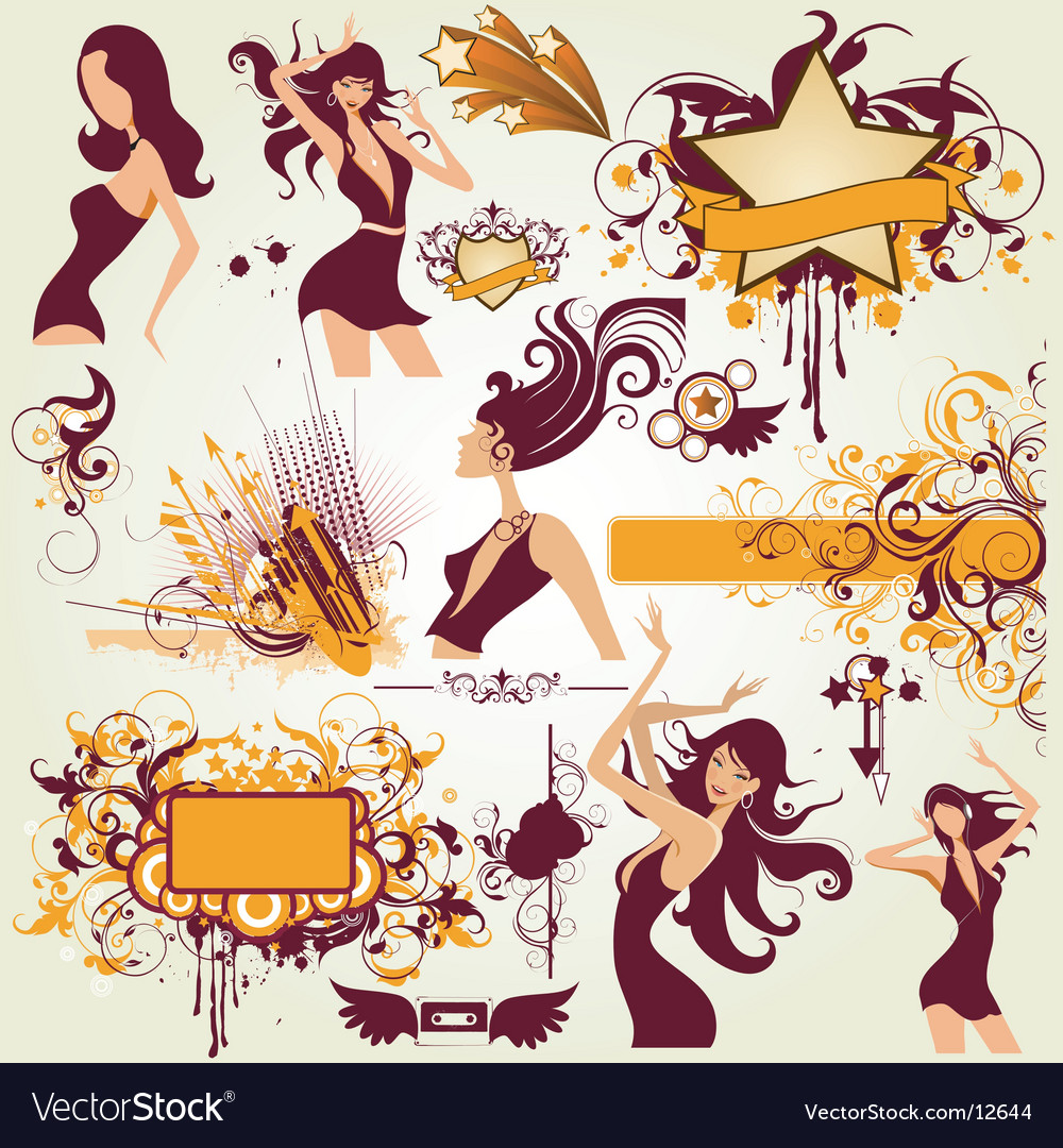 Party urban elements vector image