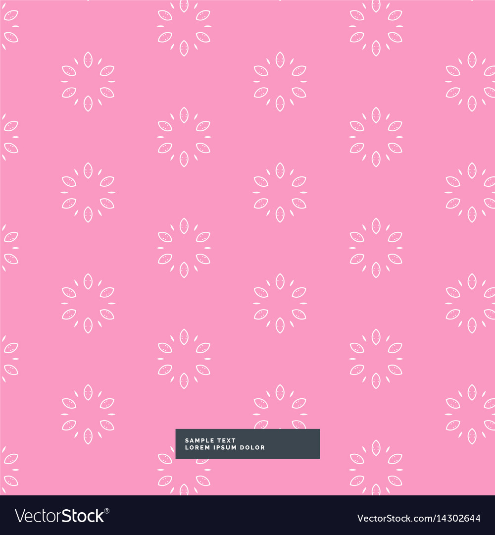Pink flower pattern background