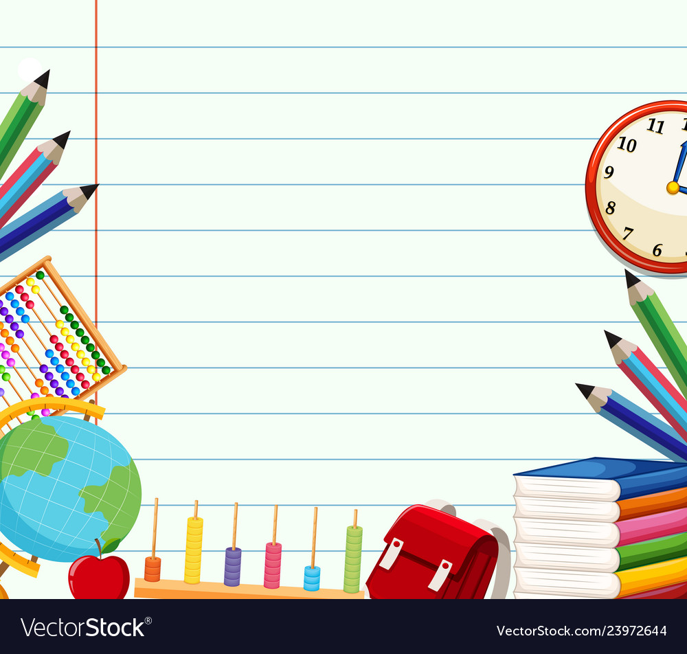 School themed background template Royalty Free Vector Image