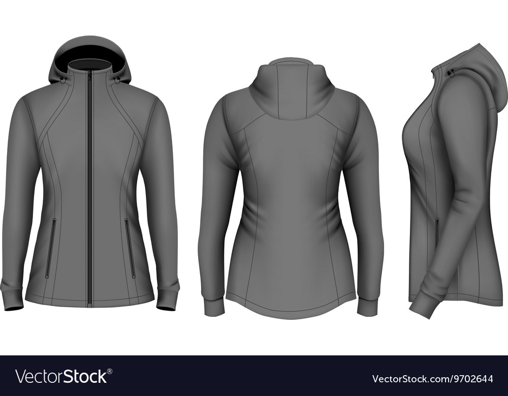 321cb2a90bd80 Softshell hooded jacket for lady Royalty Free Vector Image