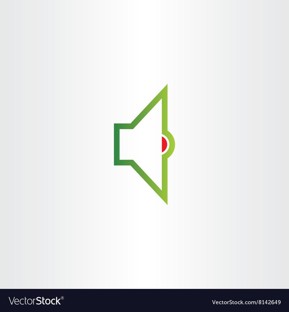 Audio speaker logo volume sound icon