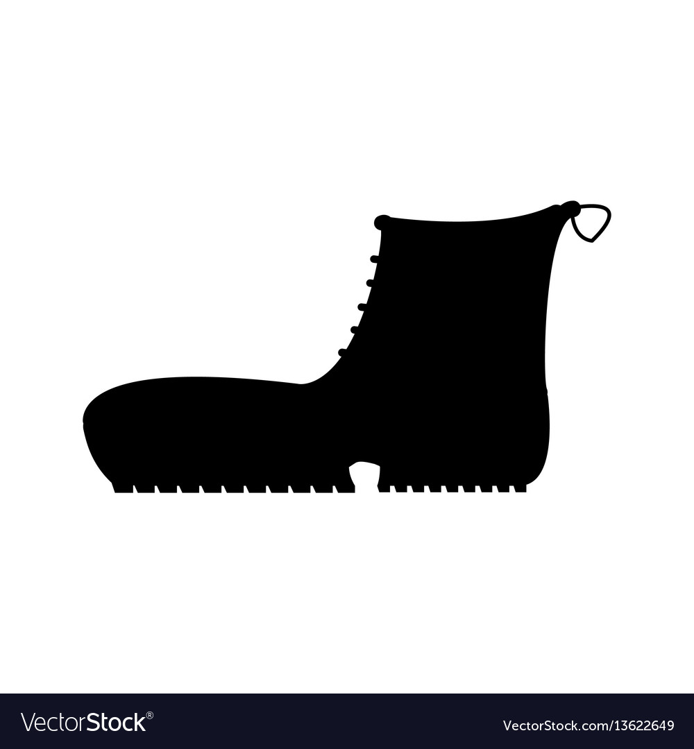 Boots with crampons isolated on white background