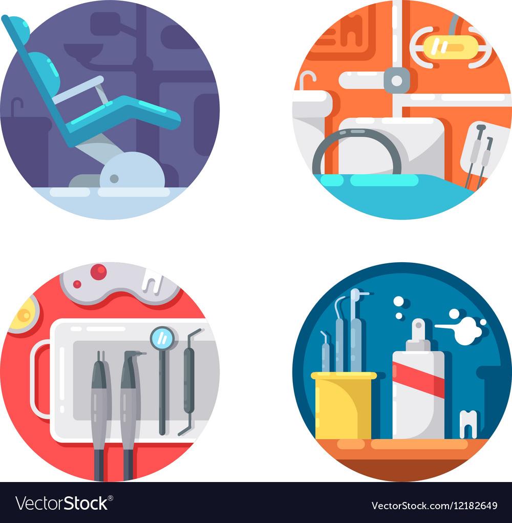 Dental clinic icons set