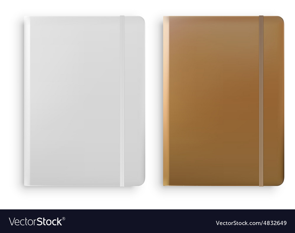 Notebook Templates Isolated on White Background