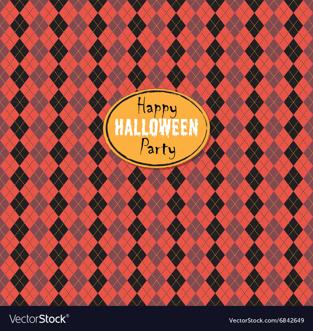 Seamless pattern Of Vintage Happy Halloween Tartan
