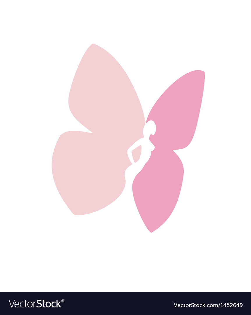 Woman with butterfly wings -isolated