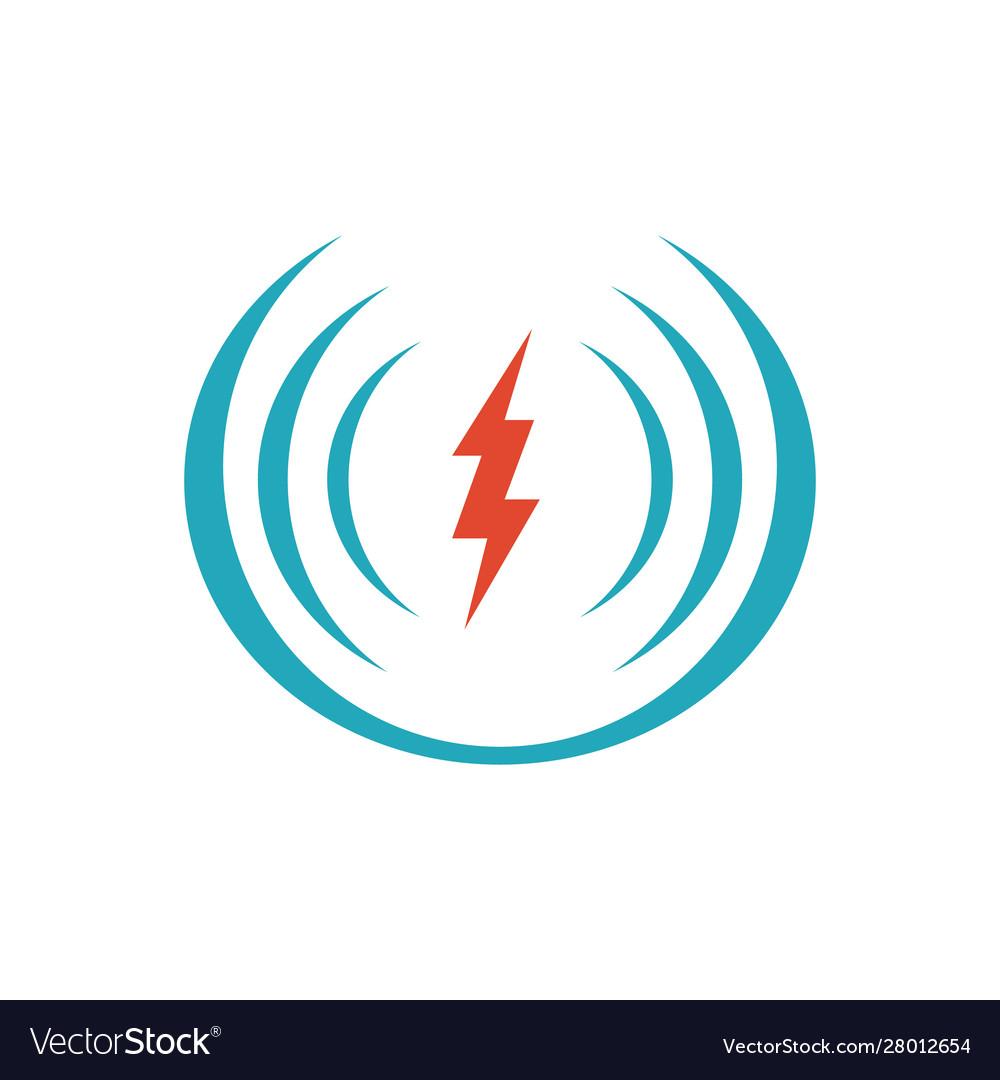 Electric shock icon logo design icon symbol for