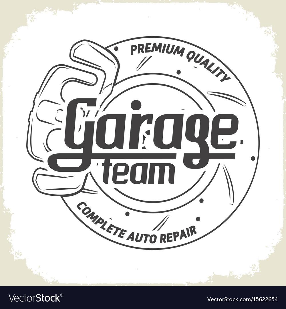 Garage team service vector image