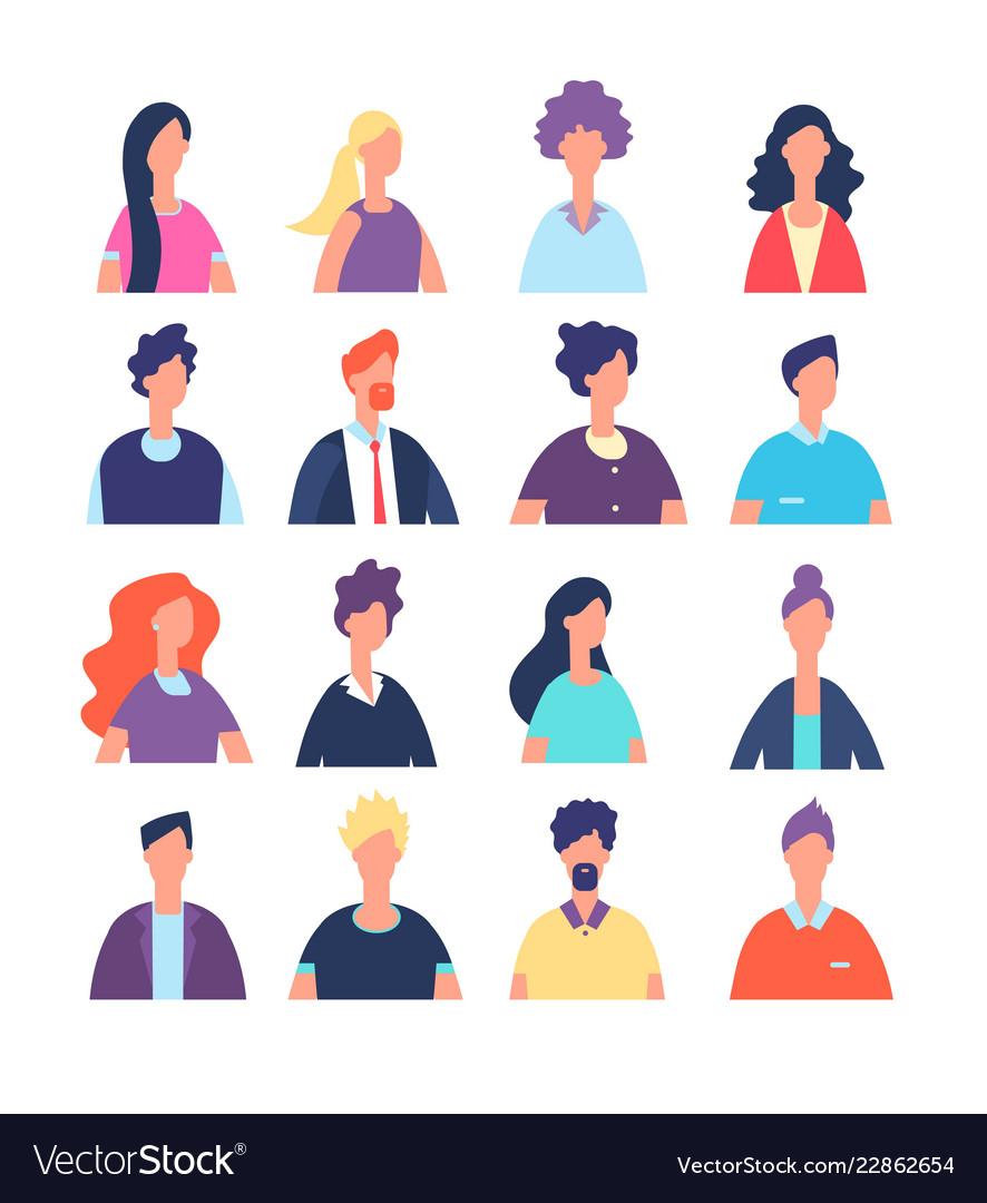People avatars cartoon man and woman office