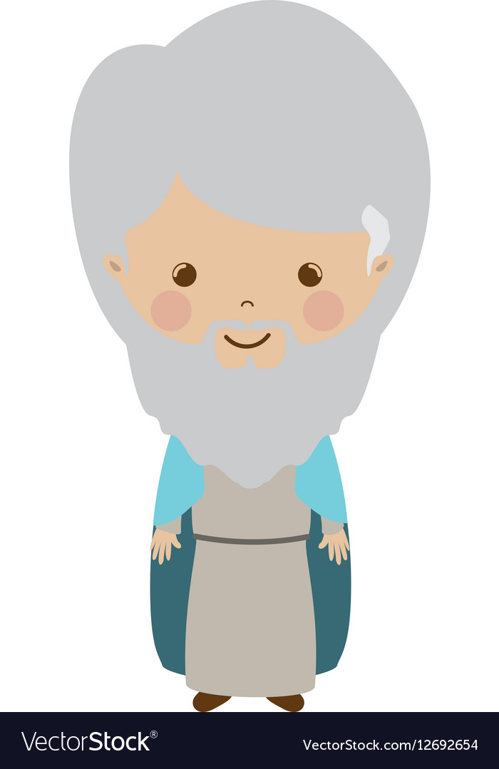 Wise man gaspar cartoon vector image