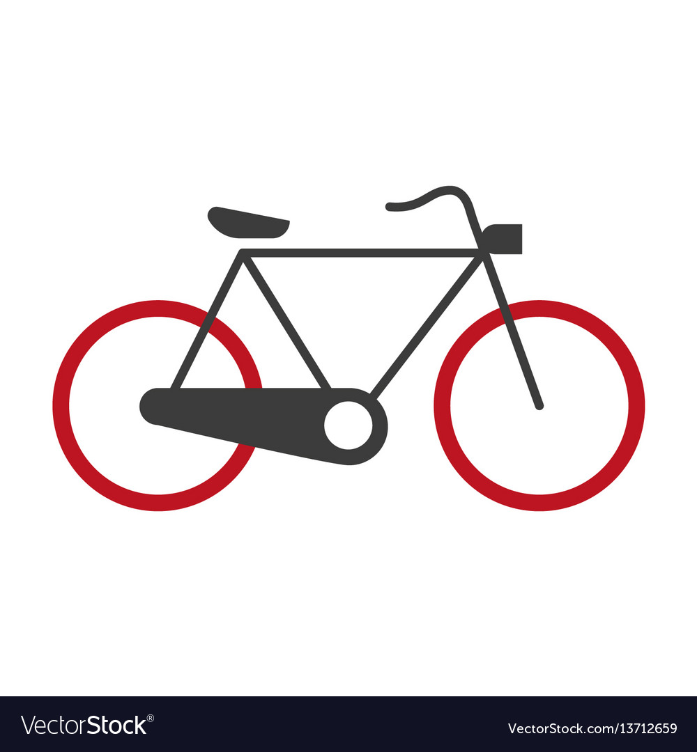 Bicycle graphic silhouette logotype icon on vector image