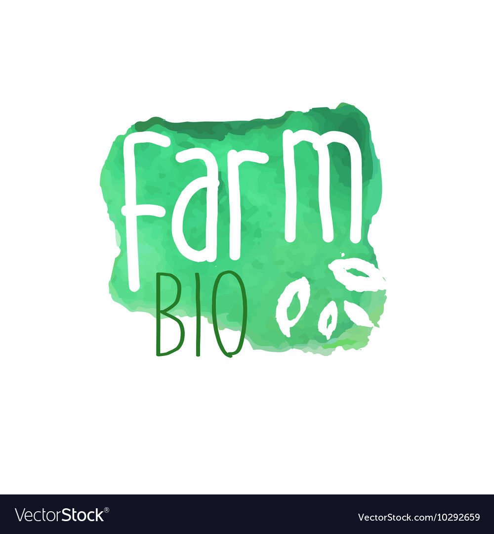 Farm Bio Fresh Products Promo Sign vector image