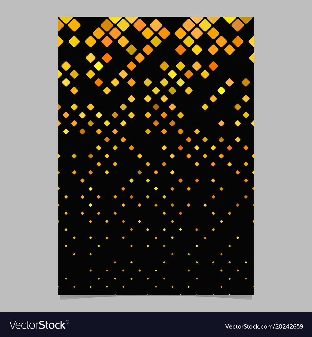 Geometrical diagonal square pattern page template vector image