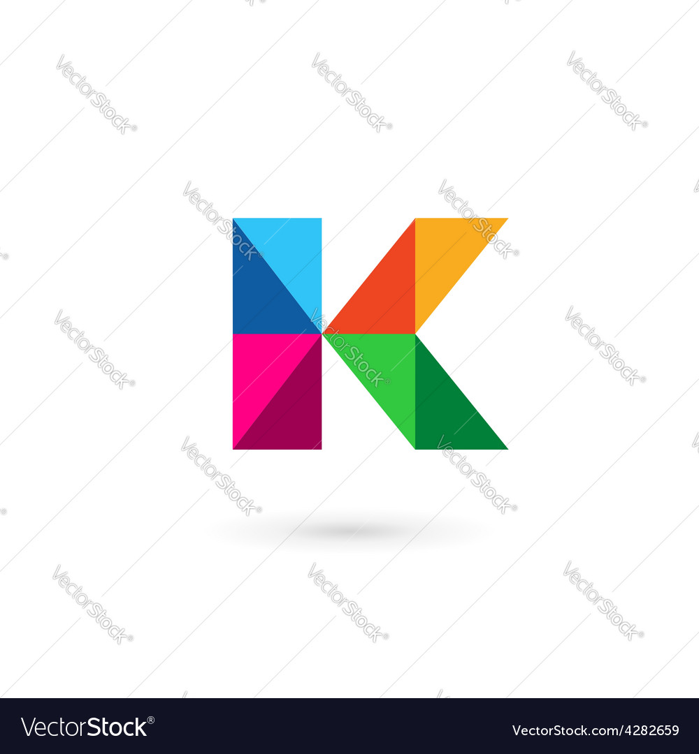 Letter K Mosaic Logo Icon Design Template Elements Vector Image