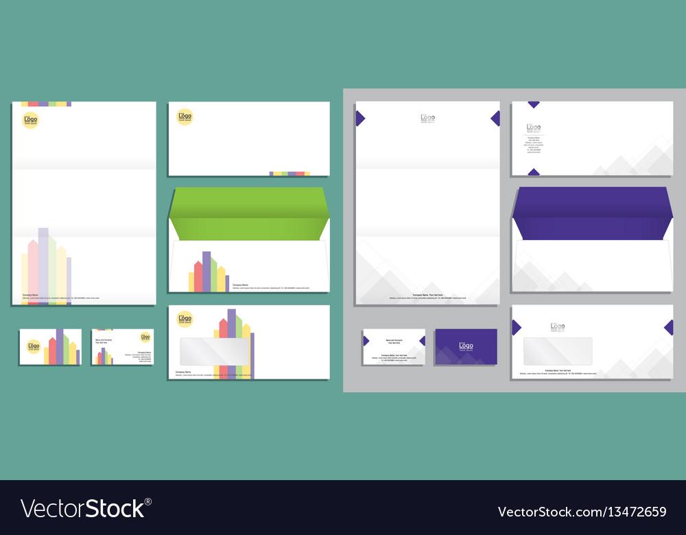 Modern stationery set in format