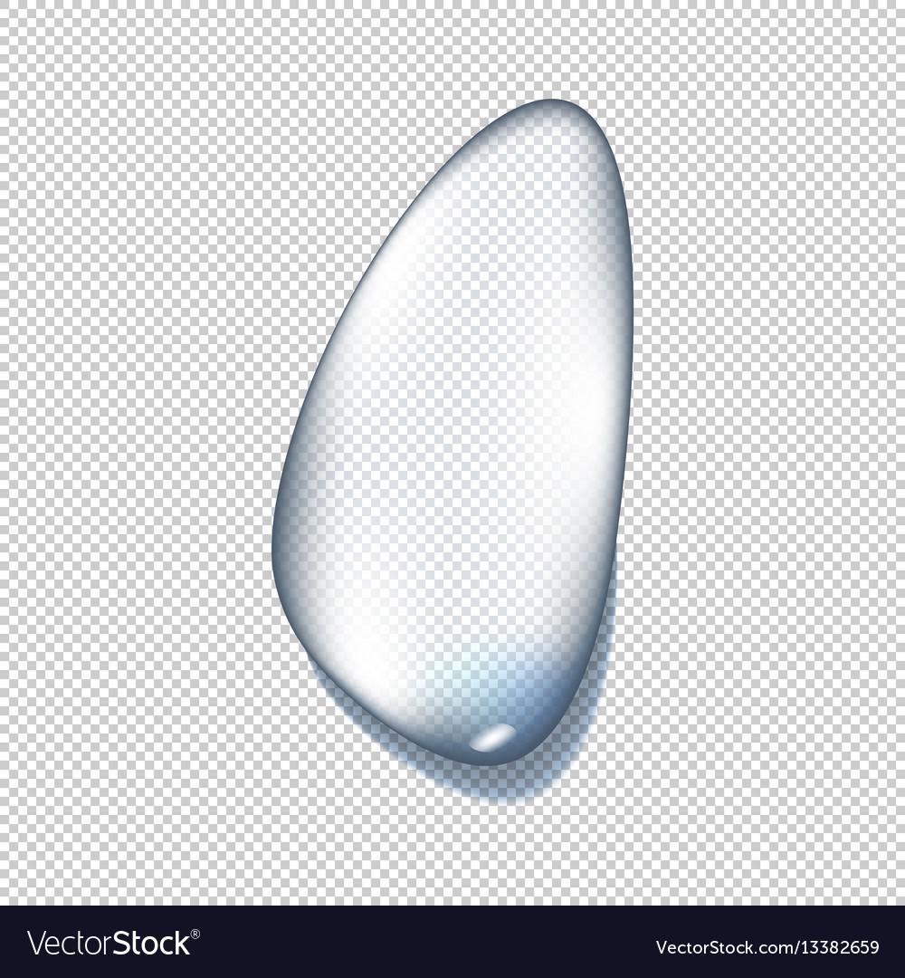 Realistic pure and transparent water drops set