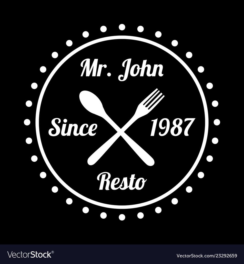 Restaurant badge and logo good for print
