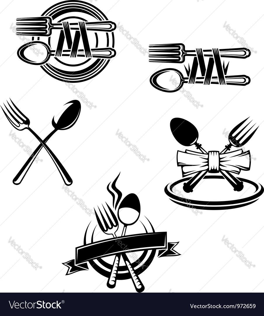 Restaurant menu symbols