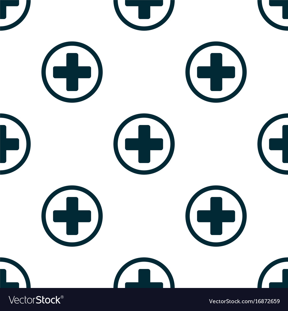 Seamless pattern of the first aid isolated on