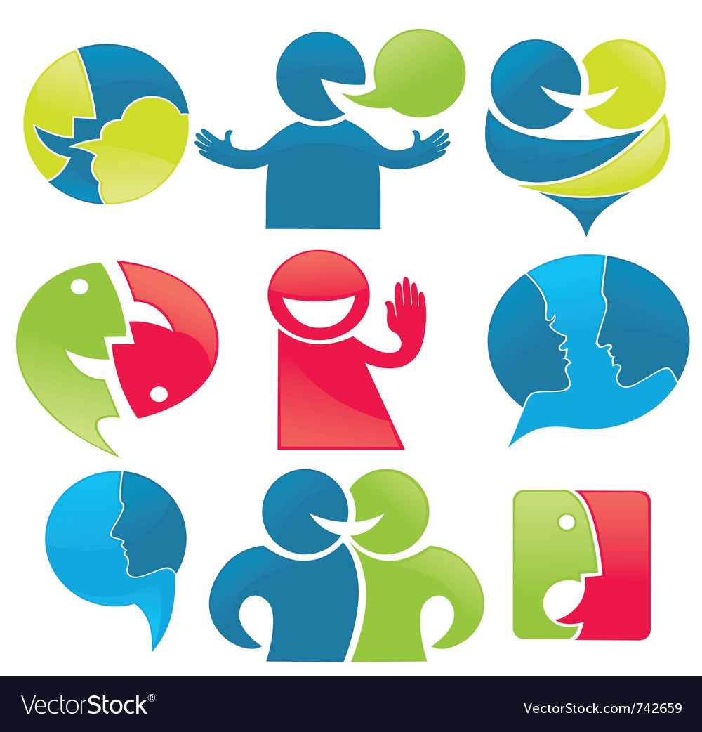 Talk and communication vector image