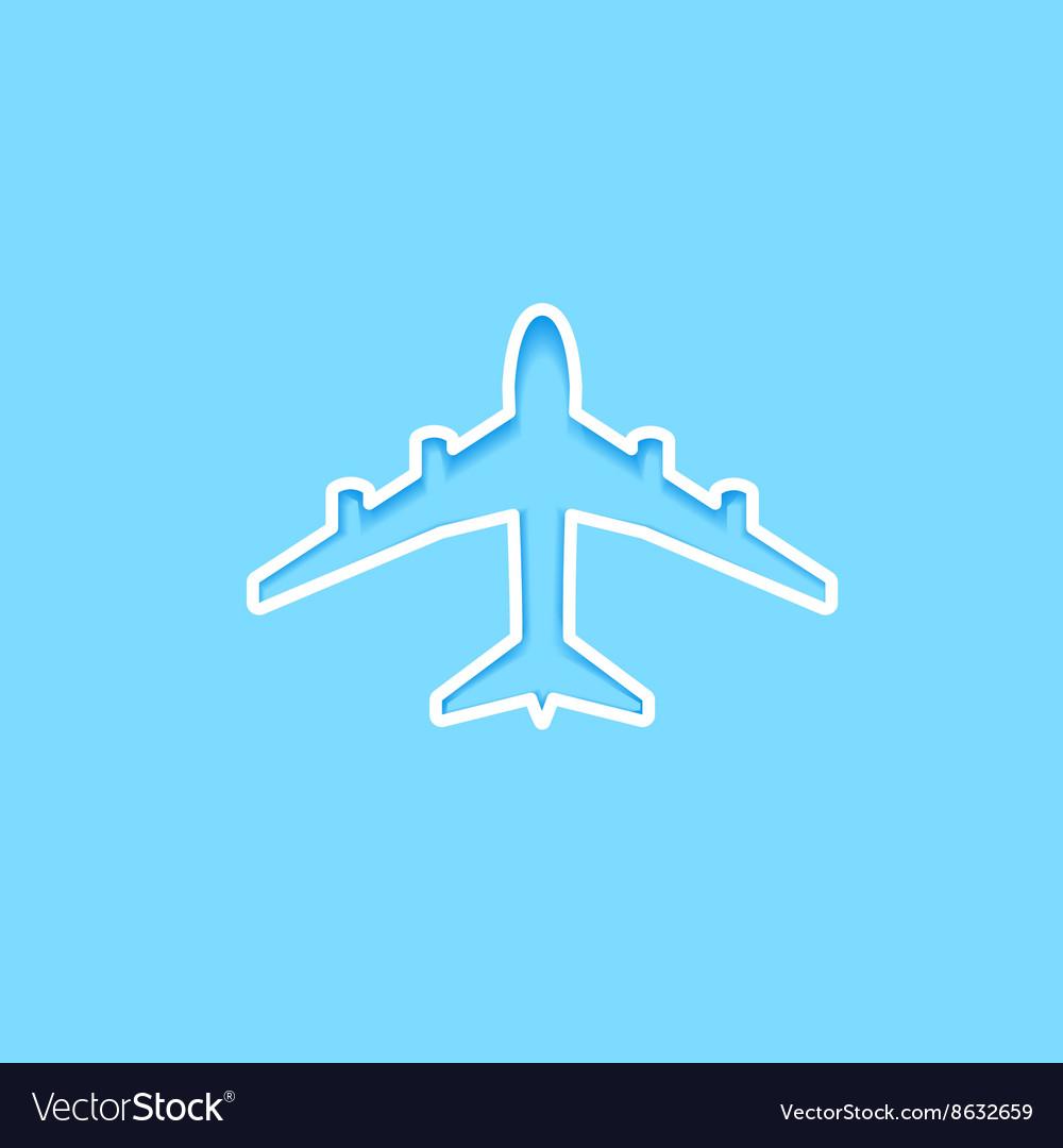 White paper plane icon vector image