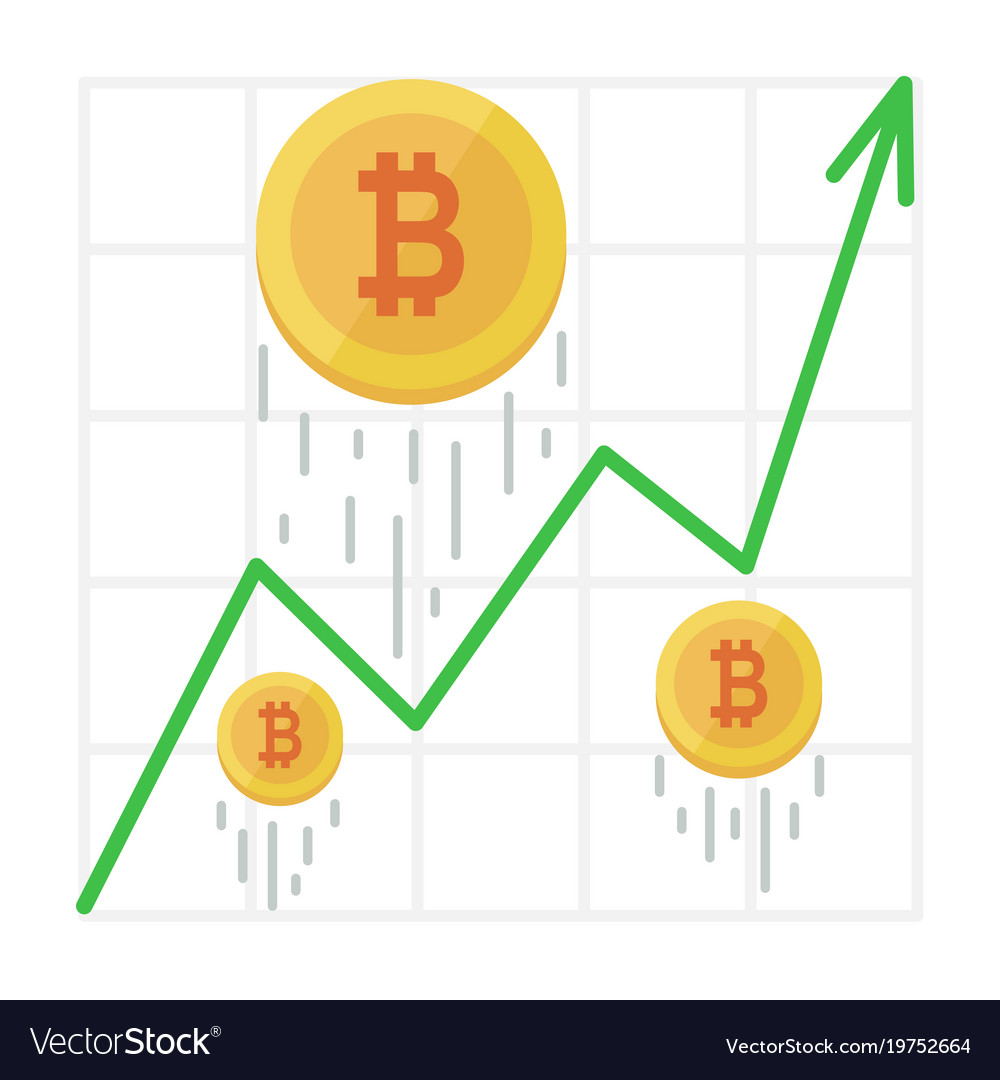 Growth Bitcoin Graph Cryptocurrency Income Chart