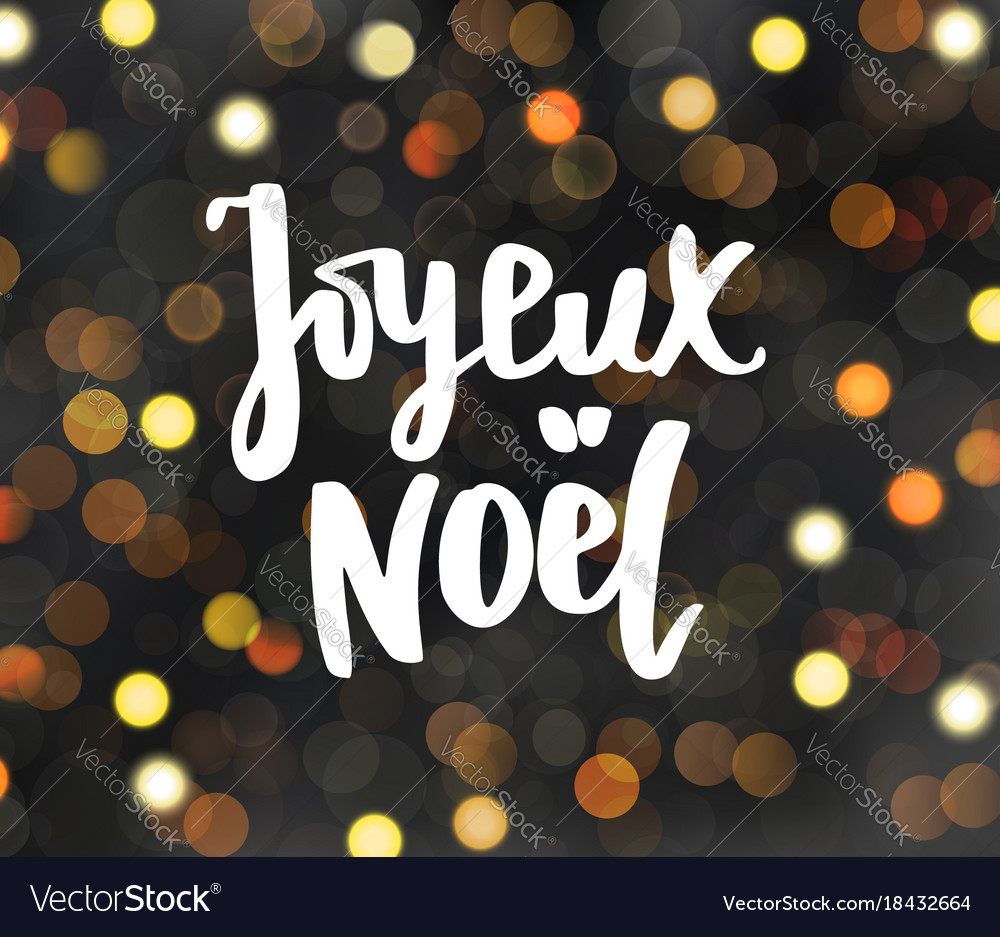 Joyeux noel text holiday greetings merry vector image m4hsunfo