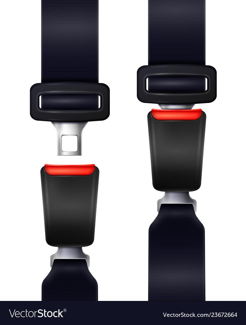 Realistic seat belts set