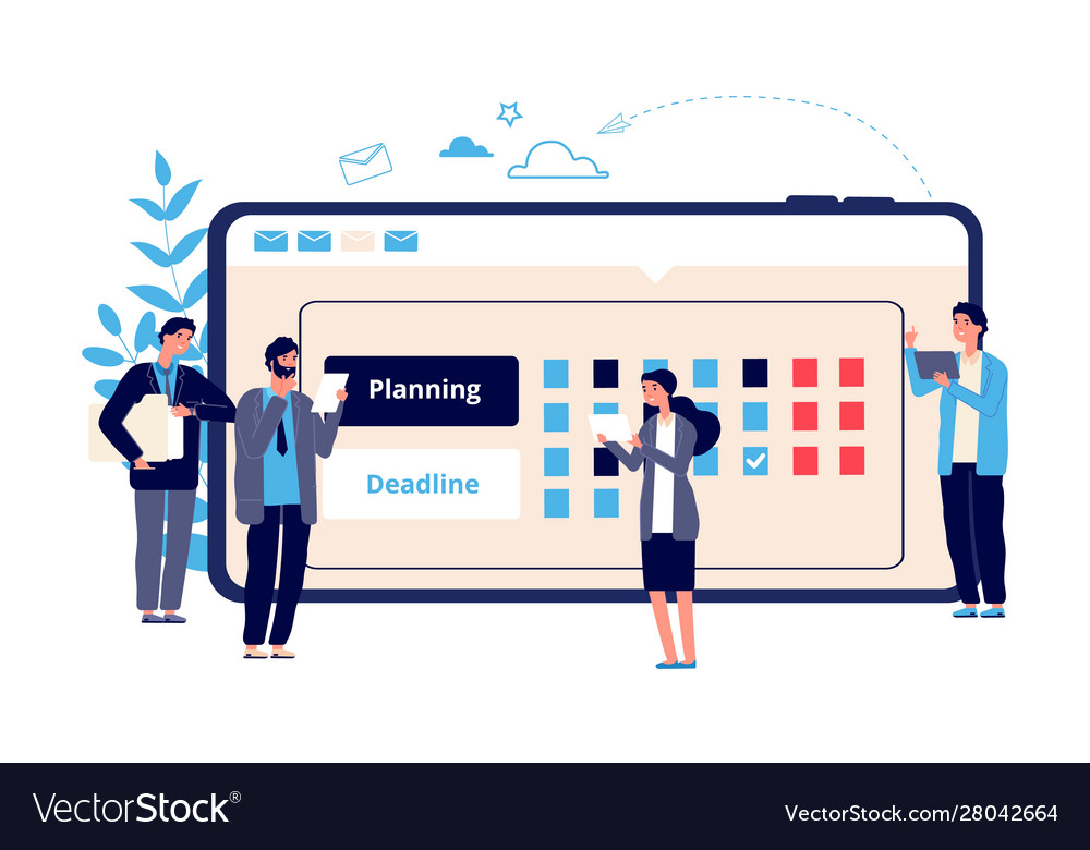Schedule concept business entrepreneurship
